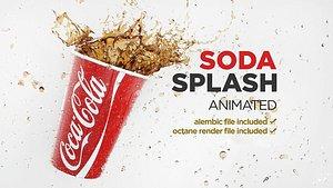 Splash Coca Cup Animated 3D model