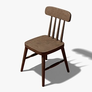Cafe Chair 3D