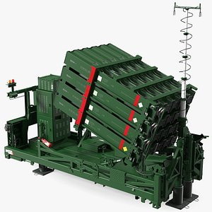 Iron Dome Air Defense Batteries Rigged model