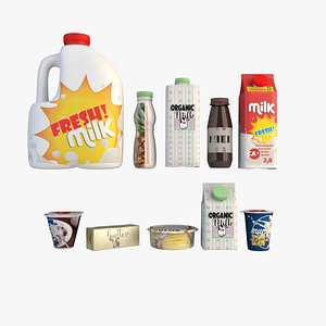 3D model Dairy products