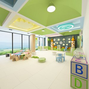 3D interior kindergarten