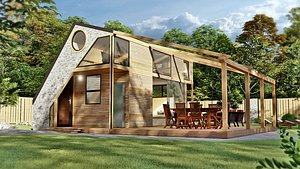 3D vacation house cottage nataly