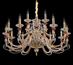 Crystal Lux Catarina SP12-6 Gold Transparent-Cognac 3D model