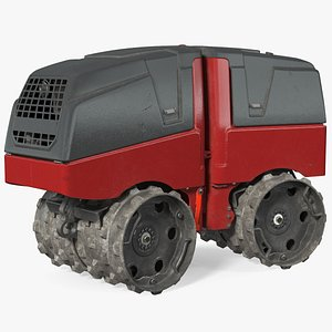 3D Vibratory Trench Roller Dirty Rigged