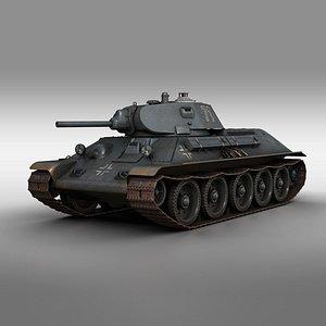 3D t-34-76 t-34 medium