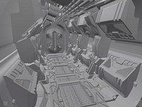 Sci Fi Corridor 3D concept model