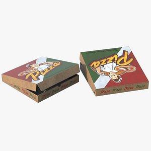 3D Pizza Box Closed model