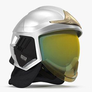 3D model cairns xf1 helmet silver