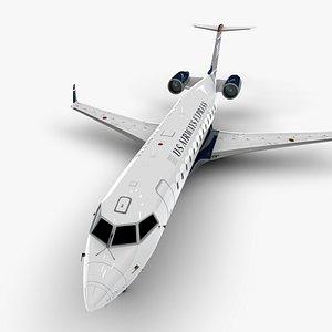 3D airways express bombardier crj model