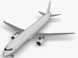 airbus aircraft generic white 3D model