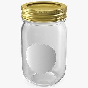 glass jar cap 3D model