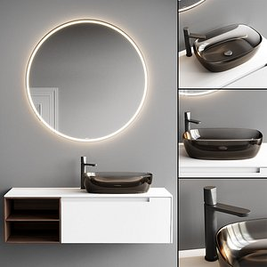 3D Antonio Lupi Design Orma Vanity Unit Set 4 model