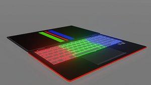 3D laptop rgb