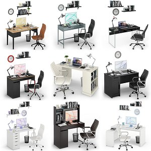 3D Workplace iMac Collection model
