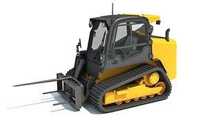 skid steer loader bale 3D model
