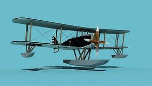 Airco DH-4 US Marines Seaplane 3D model