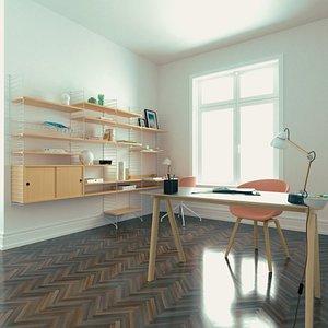 3D pbr office table