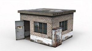 3D model Old booth