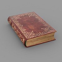 Old book cover Low-poly 3D model