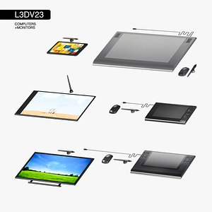 computer graphics tablets set 3D