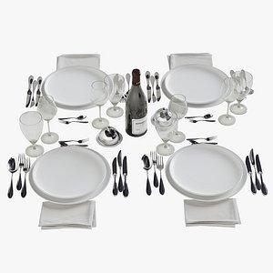 3D cutlery tableware plate model