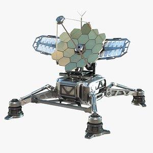 3D sci-fi antenna transmitter model