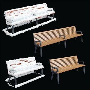 bench adanat paris 3D