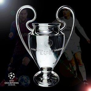 3D UEFA Champions League Cup