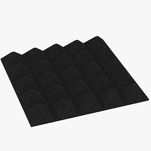 Acoustic foam section Micropor Triangle 3D model