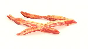 3D bacon food meat