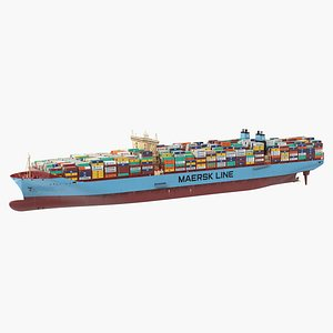 Loaded Maersk McKinney Container Ship 3D model