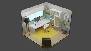 3D Office Room 6 model