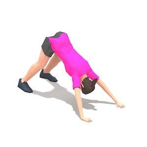 exercise woman 3D model