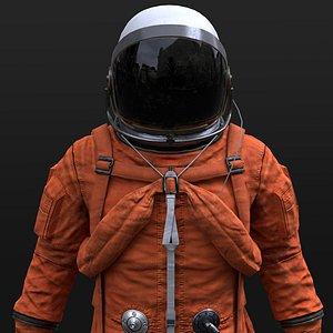 real space suit 3D model