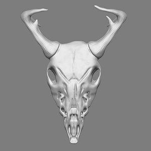 3D Ram Skull Print model