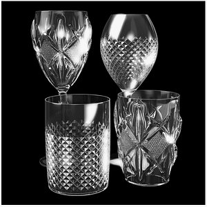Glass Cups Collection 2 3D model