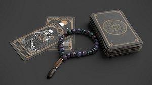 Tarot Cards and Beads 3D