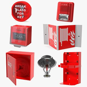 Fire Alarm Tools Collection 4 3D