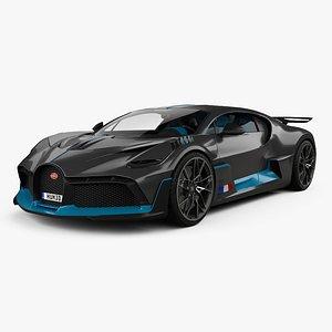 3D Bugatti Divo with HQ interior 2019 model