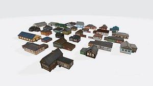3D Village house pack