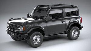 3D Ford Bronco Base 2door 2021