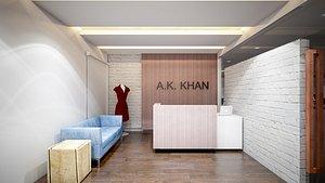 Ak Office space Garments 3D model