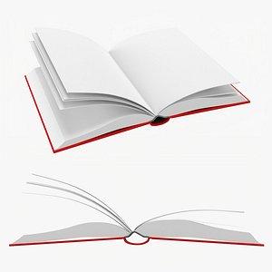 3D Open book mockup 01