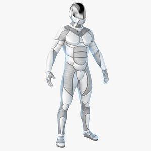 3D sci-fi futuristic astronaut space suit