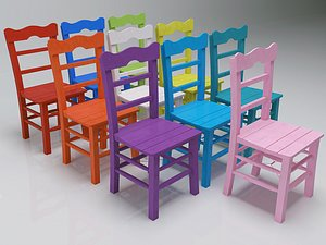 3D chairs colors
