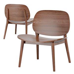 chair rubberwood design 3D