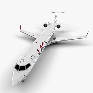 linea aerea cuencana bombardier crj 3D model