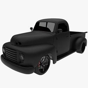 Black Ford Pickup Customs 3D