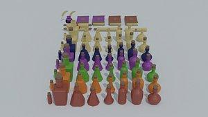 cartoon potion medieval clerk model