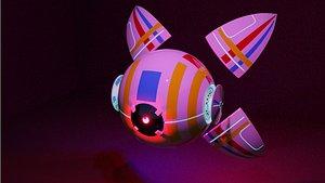 3D scifi science future